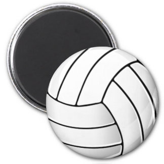Volleyball-Fan Runder Magnet 5,1 Cm