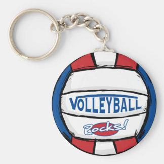 Volleyball-Felsen Standard Runder Schlüsselanhänger
