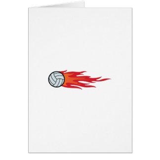 Volleyball-Flammen Grußkarte