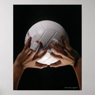 Volleyball-Hände Poster