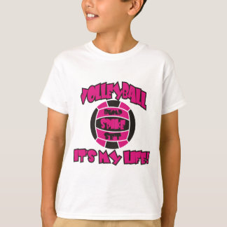 VOLLEYBALL IM PINK UND IM SCHWARZEN T-Shirt