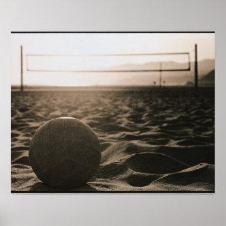 Volleyball im Sand Posterdrucke