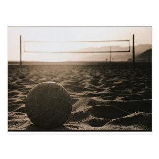 Volleyball im Sand Postkarte