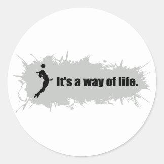Volleyball ist eine Lebensart (weiblich) Runder Aufkleber