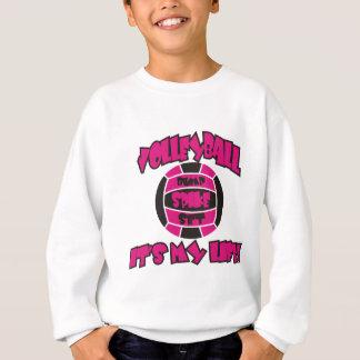 Volleyball ist mein Leben-Pink/Schwarzes Sweatshirt