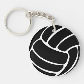 Volleyball Keychain w/Name Schwarzes Beidseitiger Runder Acryl Schlüsselanhänger
