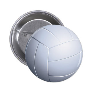 Volleyball-Knopf Runder Button 5,1 Cm