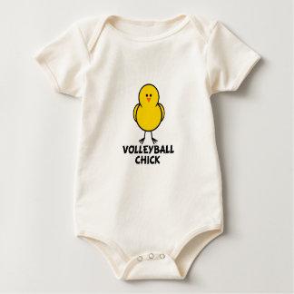 Volleyball-Küken Baby Strampler