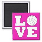 Volleyball LIEBE Kühlschrankmagnet