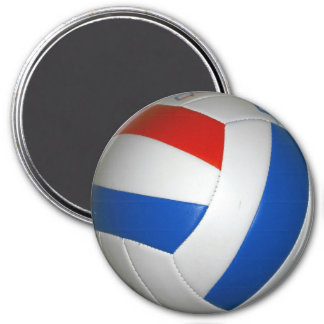 Volleyball-Magnet Runder Magnet 7,6 Cm