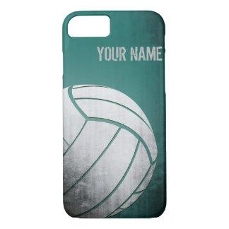 Volleyball mit Schmutzeffekt Grün-Schatten iPhone 8/7 Hülle