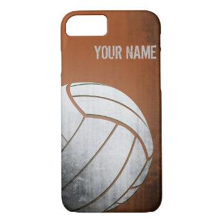 Volleyball mit Schmutzeffekt Orangen-Schatten iPhone 8/7 Hülle