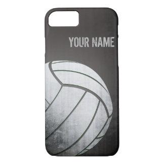 Volleyball mit Schmutzeffekt Schwarz-Schatten iPhone 8/7 Hülle