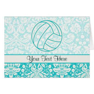 Volleyball; Niedliches aquamarines Karte