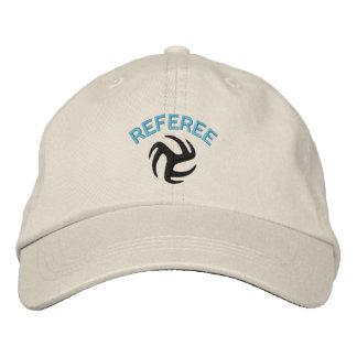 Volleyball-Referent-Kappe - blauer Hinweis Bestickte Kappe