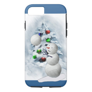 Volleyball-Schneemann-Weihnachten iPhone 8/7 Hülle
