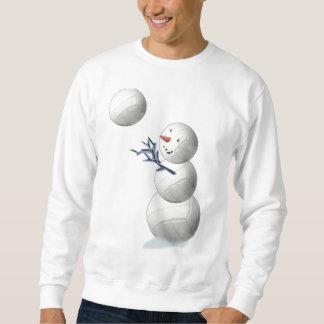 Volleyball-Schneemann-Weihnachten Sweatshirt