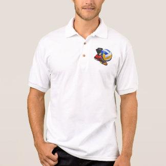 Volleyball-Schuh-Ball-Knieschützer mit Ihrem Namen Polo Shirt