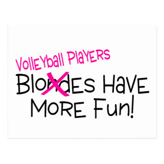 Volleyball-Spieler haben mehr Spaß Postkarte