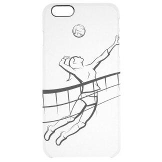 Volleyball-Spitzen-Frau Durchsichtige iPhone 6 Plus Hülle