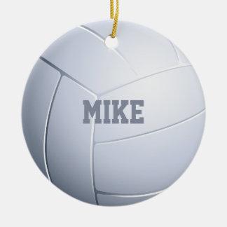 Volleyball-Sportfreund Keramik Ornament