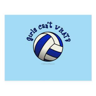 Frauen die volleyball spielen postkarten - Volleyball geschenke ...