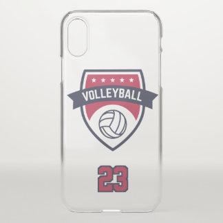Volleyball-Team. Kundenspezifische Spieler-Zahl iPhone X Hülle