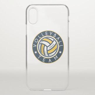 Volleyball-Team. Kundenspezifischer Spieler-Name iPhone X Hülle