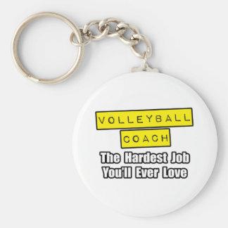 Volleyball-Trainer-… härtester Job, den Sie Schlüsselanhänger