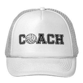 Volleyball-Trainer-Typografie-grafischer Baseball Mützen