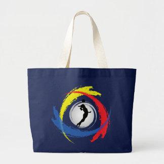 Volleyball-Tricolor Emblem (weiblich) Jumbo Stoffbeutel