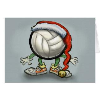 Volleyball-Weihnachten Karte