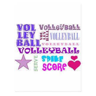 Volleyball-Wiederholen Postkarte