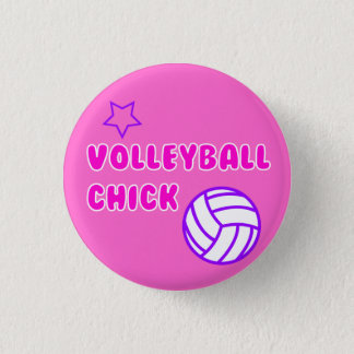 Volleyballküken Runder Button 3,2 Cm