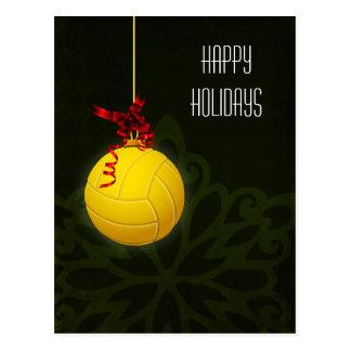Volleyballspieler Weihnachtskarten Postkarte