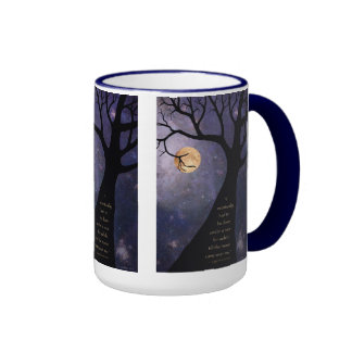 Vollmond-bloße Bäume Kaffee Haferl
