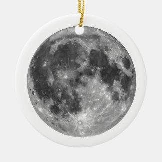 Vollmond gesehen mit Teleskop Rundes Keramik Ornament