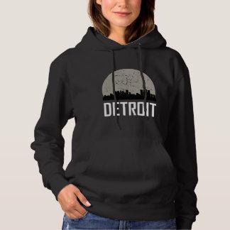 Vollmond-Skyline Detroits Hoodie