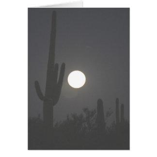 Vollmond über der Wüste Karte