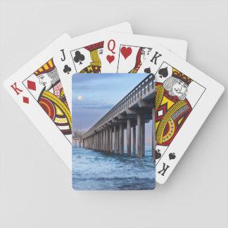 Vollmond über Pier, Kalifornien Spielkarten