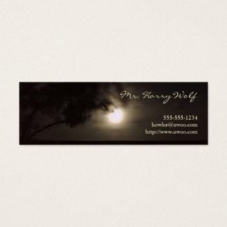 Vollmond-Visitenkarte Mini Visitenkarte