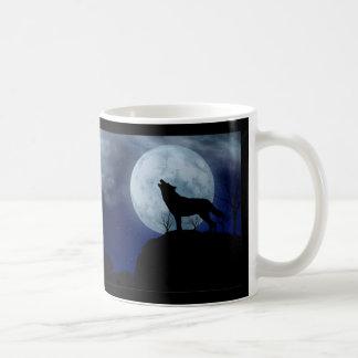 Vollmond-Wolf Kaffeetasse