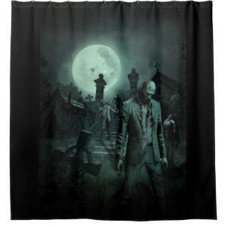 Vollmond-Zombies Duschvorhang
