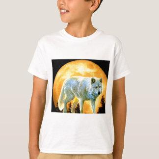 Vollmondwolf des Waldwaldmondscheins T-Shirt