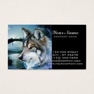 Vollmondwolf des Waldwaldmondscheins Visitenkarte