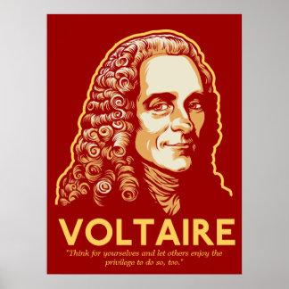 Voltaire kundengerechter Druck Poster