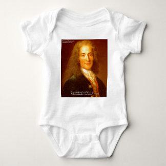"Voltaire ""Liebe-/Leinwand-"" Liebe-T-Shirts Baby Strampler"