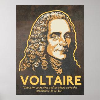 Voltaire Zitat-Druck Posterdruck
