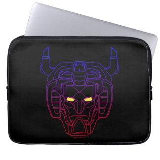 Voltron   Blau-Rote Steigungs-Kopf-Kontur Laptop Sleeve
