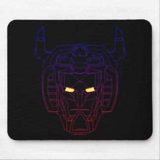 Voltron | Blau-Rote Steigungs-Kopf-Kontur Mousepad